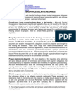 PR Pointers for Testifying in Legislative Hearings