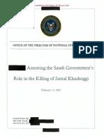 Assessment Saudi Government Role in Jamal Khashoggi Death