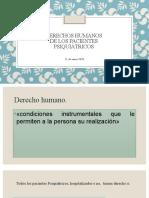 Derechos Humanos del paciente psiquiatrico.