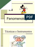 Tecnicas e Instrumentos de la fenomenlogía