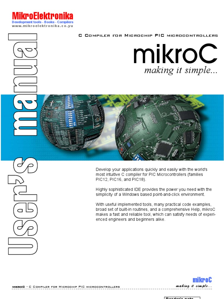 Mikroc Users Guide Pic Microcontroller C Programming Language Blinking Led Using Pro