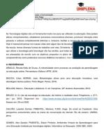 Referencial teórico - Tecnologia da Informação e Comunicação