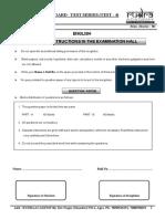 Test - 4 (English) Board Test