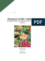 Planning for Healthy Neighborhoods1
