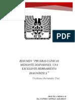 Pruebas Clínicas Mediante Diapasones Resumen Viridiana