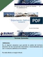 Procedimiento de Exportacion  EXPORTACION DEFINITIVA- JUAN VIVANCO