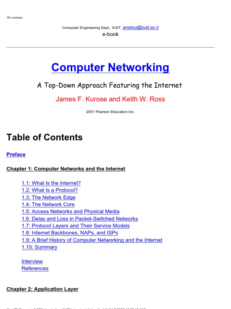 Computer Networking By Kurose And Ross Ebook