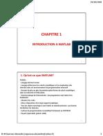 CHAPITRE 1 - Introduction à Matlab