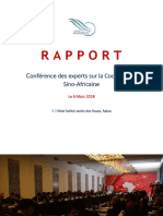 Rapport Coopération Sino Africaine
