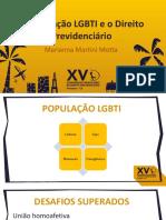 A populacao LGBTI e o Direito Previdenciario MARIANNA MOTTA
