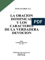 J Nicolas Grou SJ - La Oracion Dominical y Los Caracteres de La Verdadera Devocion Cod2012