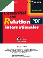 L'Essentiel Des Relations Internationales - 6e Éditions by Gazano, Antoine