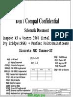 Dell Vostro 3560 Compal LA-8241P Rev 1.0 Schematics