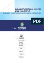CONTEÚDOS DE LÍNGUA PORTUGUESA POR BIMESTRE PARA O ENSINO MÉDIO_COM BASE NOS PARÂMETROS CURRICULARES DE PE
