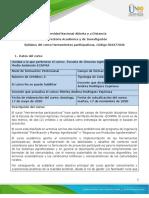 Syllabus del curso Herramientas participativas - ECAPMA