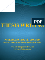 Thesis Writing - CAF