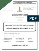 Application de l a.M.D.E.C Aux Deux Broyeurs
