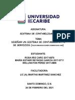 TRABAJO SISTEMA DE CONTABILIDAD II