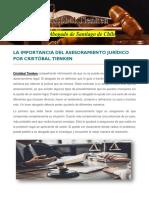 La Importancia Del Asesoramiento Jurídico Por Cristóbal Tienken