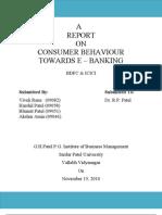 consumer behaviour towards E-Banking- Final report