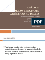 0. PRESENTACION ANÁLISIS DE LOS LENGUAJES ARTÍSTICOS