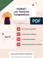 Unidad I- Las Técnicas Terapéuticas