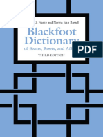 Blackfoot Dictionary of Stems, Roots, and Affixes (3rd Ed)