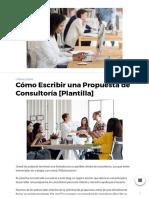 Cómo Escribir Una Propuesta de Consultoría [Plantilla] - Ideas de Negocios