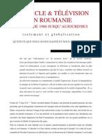 Spectacle et télévision en Roumanie