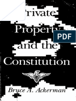 Bruce A. Ackerman - Private Property and the Constitution (1977)