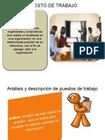 Descripción de cargos y definición de perfiles por competencias Campos ocupacionales