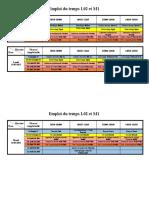Emploi Du Temps L2 Et M1
