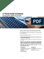 ETRADE bank application