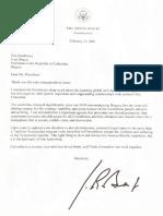 Carta de Joe Biden a Iván Duque