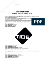 Markenregistrierung TIDE in 2004 (DE30411175) - Status