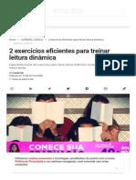 2 exercícios eficientes para treinar leitura dinâmica _ Exame