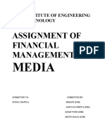 assignment on media