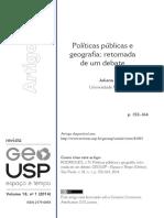 Politica Publica y Geografia - Juliana Junes