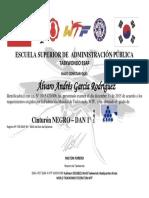 Diploma Cinturon Negro Esap Andres