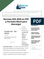 Normas APA 2020 en PDF y Formato Word para descargar