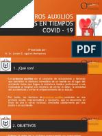 CLASE 1 PRIMEROS AUXILIOS