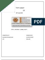 Term paper ISP FINAL