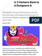 Kickstarter's Zine Quest Returns With Old School D&D-Style Projects