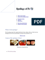 What is food spoilage