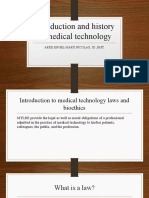 Introduction and history of medical technology