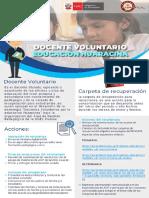 Folleto Docente Voluntario - AGP UGEL HUARAZ