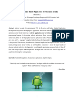 Scope of Android Mobile Application Development in India
