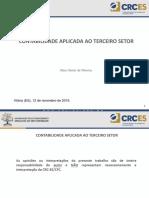 CONTABILIDADE APLICADA AO TERCEIRO SETOR