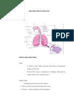 anatomy of respiratory system and pathophysiligoy of dyspnea