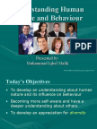 Understanding Human Nature and Behaviour
